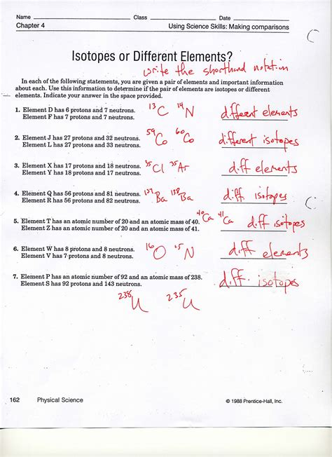 Isotopes Worksheet Answer Key by Element Worksheet Answers Calleveryonedaveday