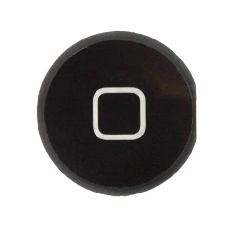 4 home button replacement part black