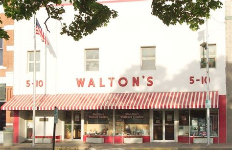 sam walton s first five and dime store in bentonville arkansas crystal bridges the art museum that walmart built