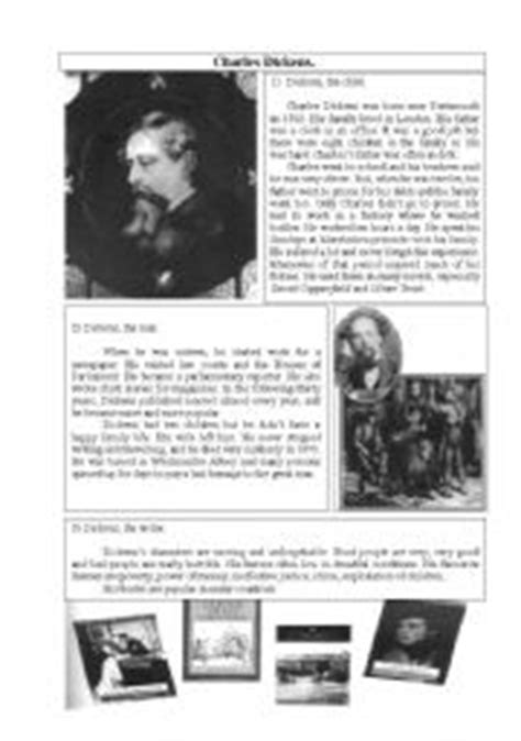 charles dickens biography video worksheet english worksheets england worksheets page 8