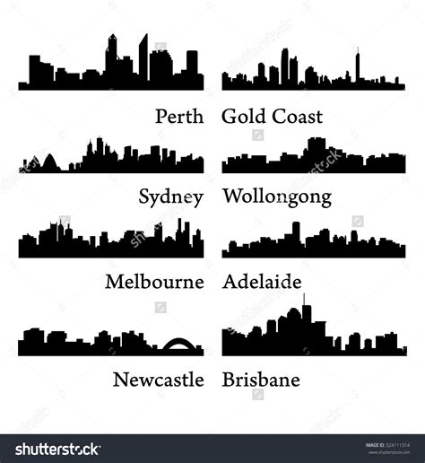 sydney melbourne brisbane perth how to find cheap newcastle skyline silhouette google search sle