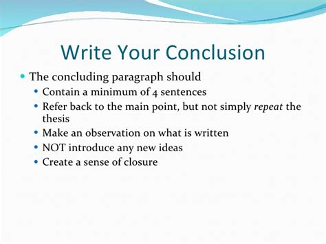 What To Write In The Conclusion Of An Essay by Writing The Draft