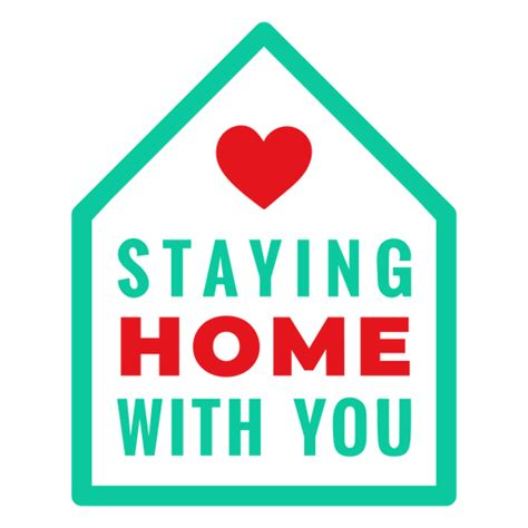love staying home   lettering transparent png