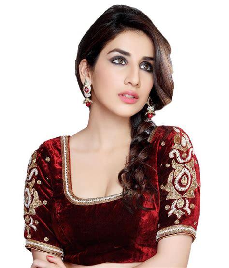 Blouse Maroon samyakk maroon designer velvet blouse buy samyakk maroon designer velvet blouse at low