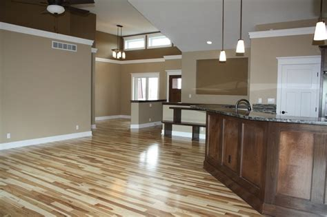 hickory floors traditional family room cedar rapids by select homes of iowa
