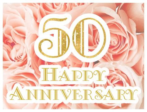 Happy 50th Wedding Anniversary ecards   Greetingshare.com