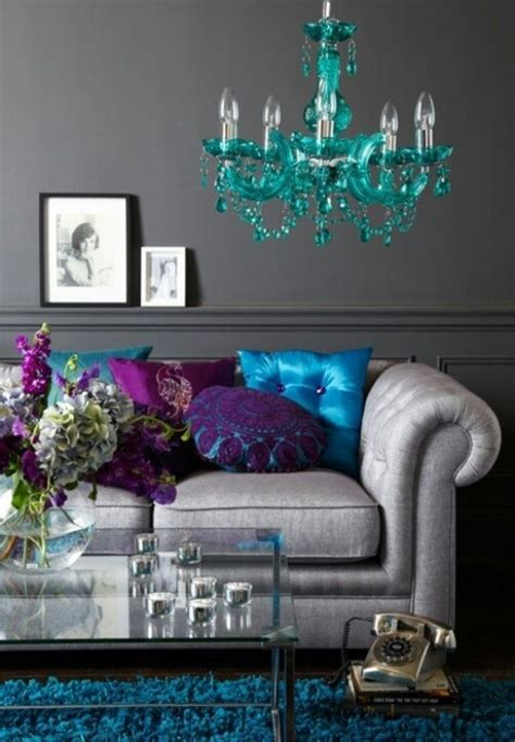 grey blue teal purple living room  creative brown