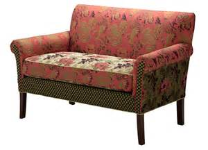 Where Does The Word Settee Come From Settee Salmon Concord Wildflower Purple Jacquard