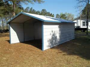 single a frame carport with enclosed sides r b metal