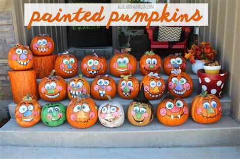 painted pumpkins painted pumpkins a and a glue gun