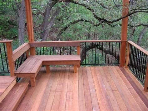 deck with bench 25 best images about deck railing ideas on pinterest