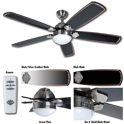 harley davidson motorcycle ceiling fan light with remote
