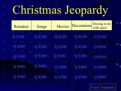 printable christmas jeopardy game related pictures printable 1960s trivia questions and