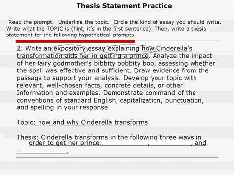 Expository Essay Topics Exles by Thesis Statement Practice 28 Images Persuasive Thesis