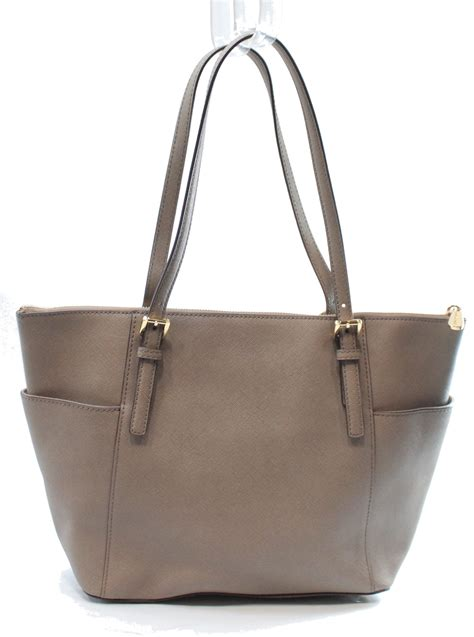 Tas Michael Kors Original Mk Jetset Zip Tote Large Pear michael kors new beige dune saffiano jet set zip tote bag purse 248 012 ebay