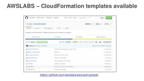 cloudformation templates aws waf a web app firewall