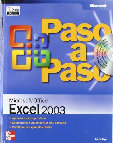 tutorial excel español microsoft office excel 2003 paso a paso p 250 blico libros