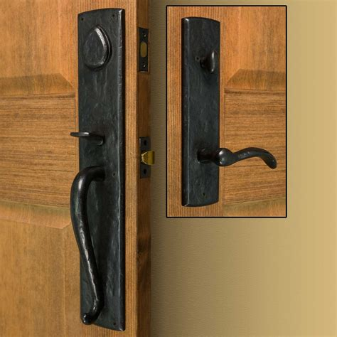 Bullock Solid Bronze Entrance Set With Lever Handle Door Locks For Exterior Doors