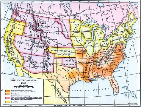 united states 1860 map the united states