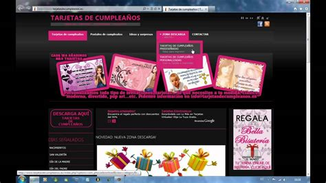 video tutorial de internet gratis tarjetas de cumplea 241 os tutorial personalizar 1era parte