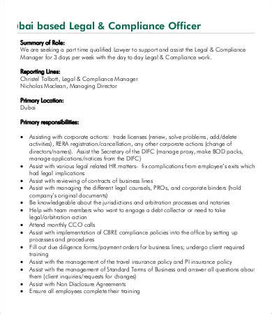 how to become a compliance officer at a bank 9 compliance officer description in pdf free