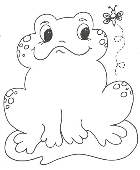 coloring page of frog free printable frog coloring pages for kids animal place