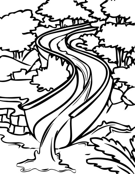 coloring page water water slide clip free cliparts co