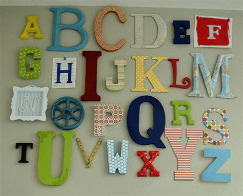 Alphabet Decor by Alphabet Wall Eclectic