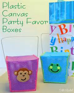 Diy Birthday Favors by Diy Favor Boxes Made With Plastic Canvas