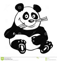 Panda Outline Drawing by Panda Bamboo Outline Stock Image Image 21297511
