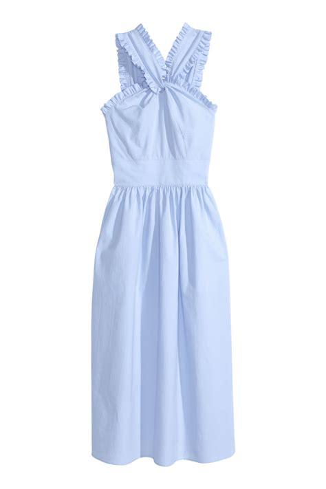 cotton dress light blue sale h m us