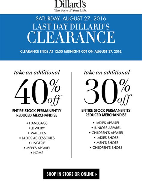 dillards coupons emails