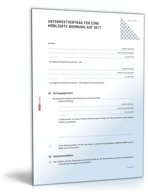 wohnung protokoll befristeter untermietvertrag m 246 blierte wohnung muster