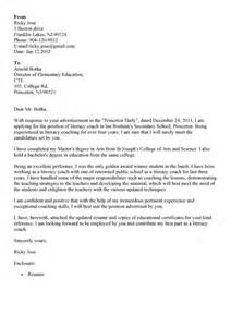 College Letter Sports Sle Cover Letter For Coach Position