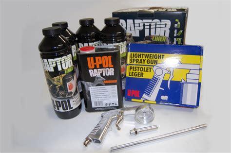 raptor bed liner kit u pol raptor black truck bed liner kit with spray gun