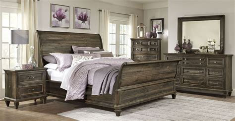 calistoga sleigh bedroom set from magnussen home b2590