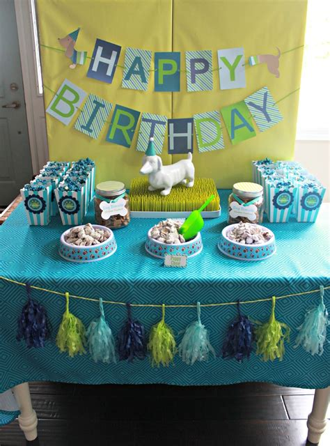themes to party it s a pawty puppy party first birthday part 1