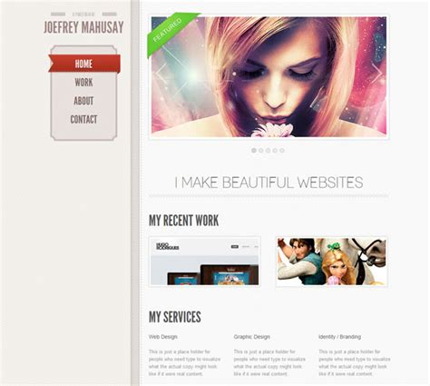 html5 portfolio template free single page scrolling html5 portfolio template psds