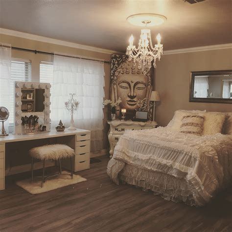 Bedroom Decore | shabby chic meets zen glam my new bedroom pinterest