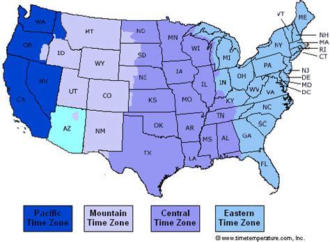 west coast of united states map east coast time zone map usa states