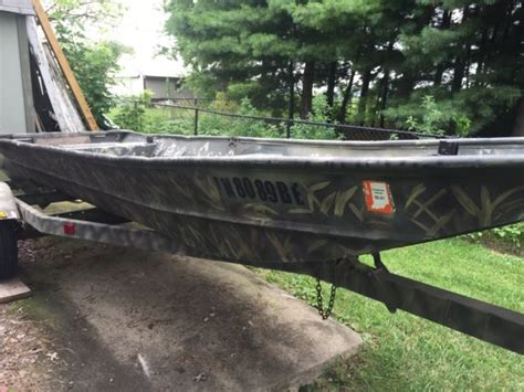 duck hunting boats for sale in indiana lowe 16 x 56 quot aluminum jon boat and trailer fishing