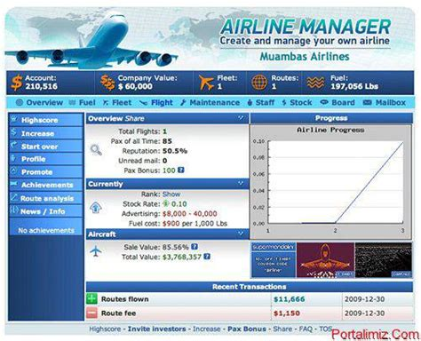 airline manager oyunu portalimiz