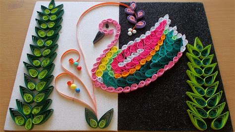 paper craft decoration home diy home decor with paper quilling art craft community