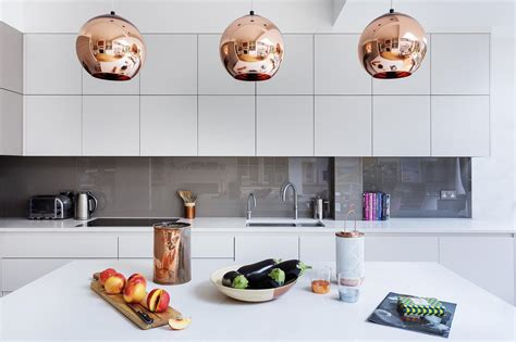 contemporary kitchen by design details a modern kitchen decor with copper ls and nordic details