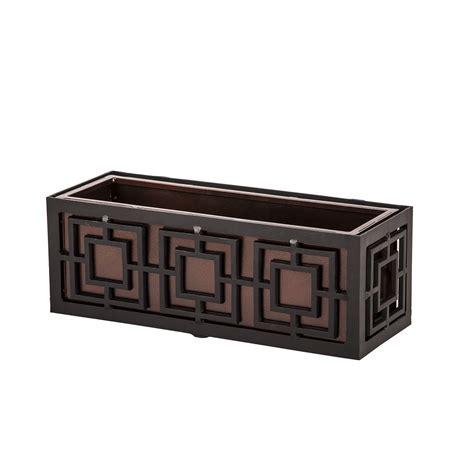 aluminum window boxes geometric metal flower boxes planters hooks lattice