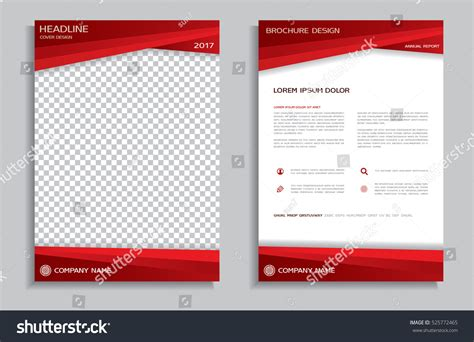 report front page template flyer design template brochure annual stock vector
