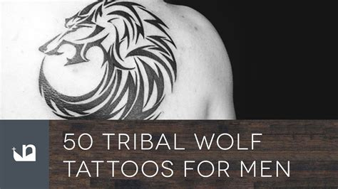 50 tribal wolf tattoos for men youtube