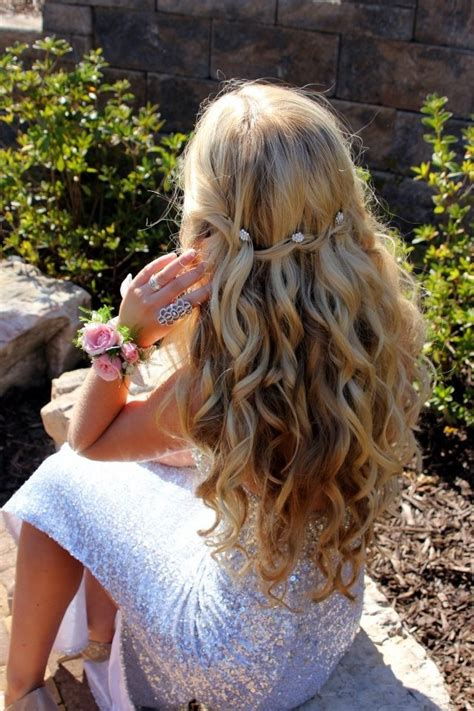 homecoming hairstyles down with braids waterfall braid with curls waterfall braids and prom hair