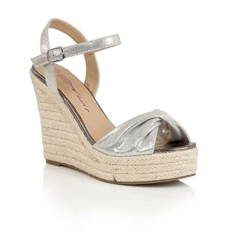 wedges shoes buy dolcis hollie wedge sandals silver