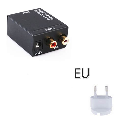 Digital To Analog Audio Converter Toslink dac optical digital coaxial toslink signal to analog rca